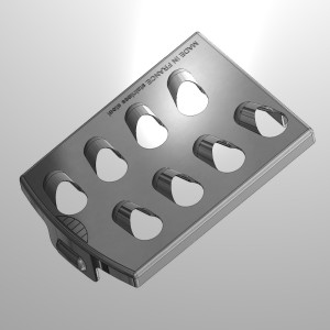 single grating inserts for kitchen appliances